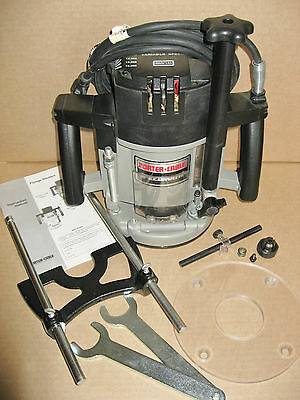 PORTER CABLE 3-1/4 HP Speedmatic 5 Sp. PLUNGE ROUTER Model 7539 T2 w/EXTRAS, USA