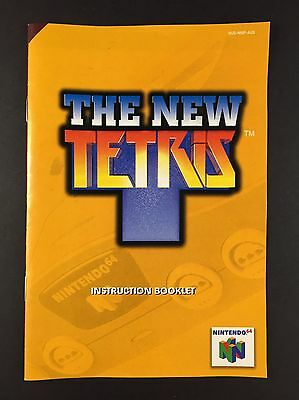 The New Tetris - Nintendo 64 Instruction Booklet - N64 Manual (Condition A)