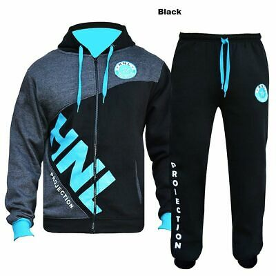 Kids HNL Boys/Girls 2 Pc Fleece Tracksuits,Hooded Jumper Jogging Suit Age 5-14 y