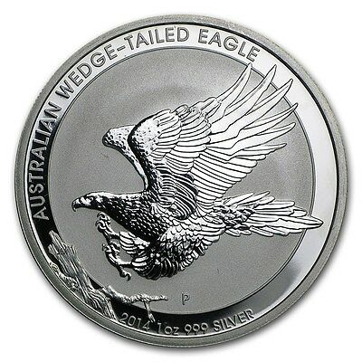 2014 Australia Wedge-Tailed Eagle 1 Oz .999 Silver Coin from Sealed Roll