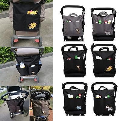 Baby Stroller Travel Cart Diaper Organizer Storage Bag Basket Hanging Pushchair