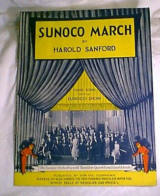 Vintage SUNOCO MARCH by Harold Sanford SHEET MUSIC Sun Oil FUEL GAS MOTOR OIL