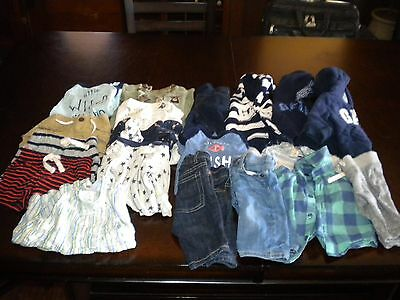Lot Of 19 Boy Baby Gap Clothes Size 0-3 Months