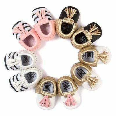 0-18M Baby Kid Girl Boy PU Leather Shoes Infant Toddler Soft Sole Moccasin Shoes