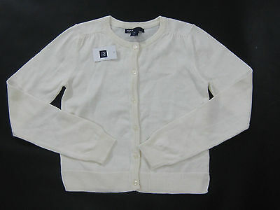NWT Gap Kids Girls Size Large 10 Off White Ivory Cardigan Sweater Uniform School