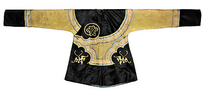 Antique Chinese Silk Robe Embroidered Qing Dynasty Kossu Manchu Endless Knot