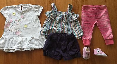 HUGE Baby Girls 00 3 - 6 Mixed Bundle Converse, Old Navy, H&M, Bonds, Patch