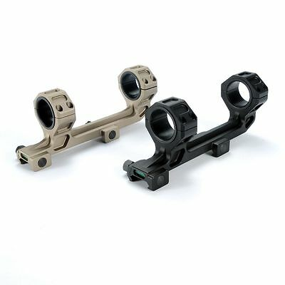 One Piece Scope Mount 30mm/1 inch Rings with Bubble Level Picatinny Rails New