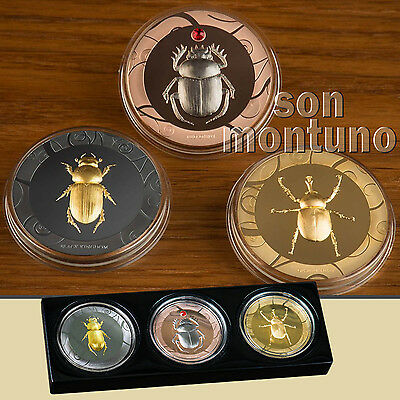 SCARAB SELECTION - Set of 3 Silver Proof Coins - 2017 Cook Islands ONLY 499 SETS