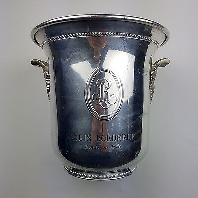 Seau a champagne Louis Roederer Aluminium french Bucket Cooler Grapevine Handles