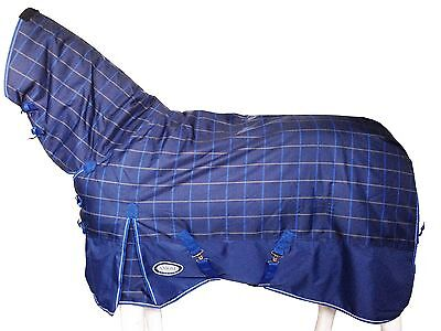 AXIOM 1200D RIPSTOP W/P TARTAN BLUE/YELLOW/NAVY 300g PADDOCK HORSE CB 6' 0 SALE!