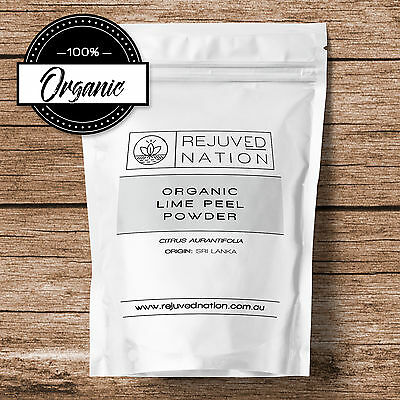 Organic Lime Peel Powder: Cooking & Skin Cleansing - GMO Free