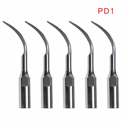 5pcs Dental Ultrasonic Scaler Tip PD1 Fit DTE SATELEC ES
