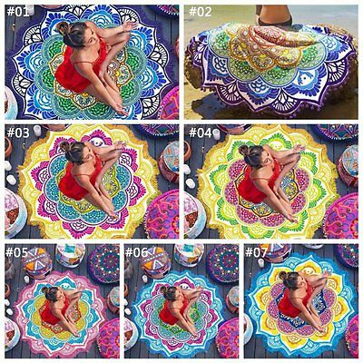 AU Boho Tapestry Beach Throw Towel Mandala Indian Hippie Mat Picnic Blanket new