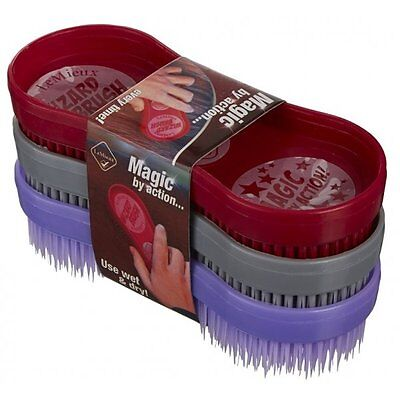 LeMieux WIZARD BRUSH TRIO  Horse Pony Grooming Scrubbing Hair Removal
