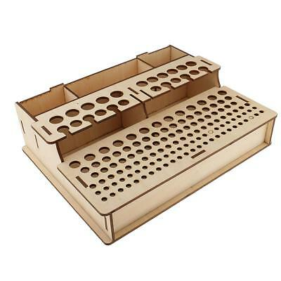 Leathercraft Stamp Tools Stand Painting Brushes Rack Holder Storage Box #3