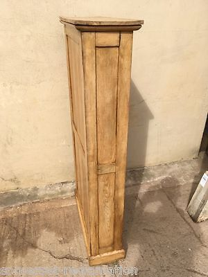 Victorian Pine Narrow Storage Cabinet Cupboard Pictures Table Leaf Altar Cloths
