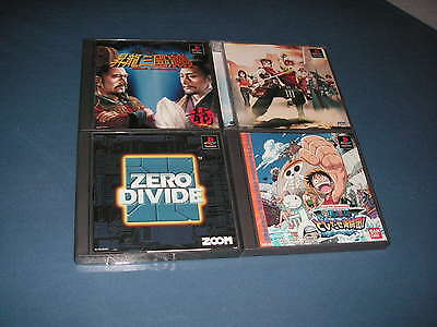 Playstation Lot of 4 Zero Divide one piece ps1 video game JAPAN import NTSC-J