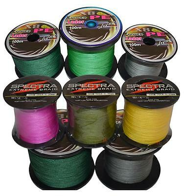 Pe Strong Dyneema 4Braided 300m Super Spectra Fishing Line 10LB-80LB 7Colors UC