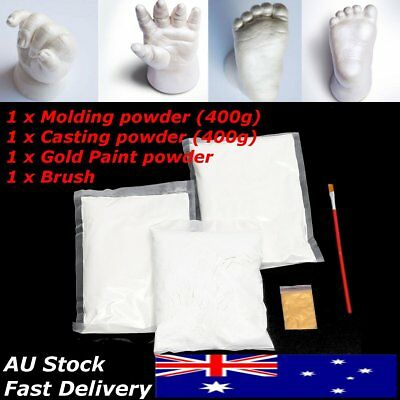 Baby 400g Casting Moulding Powder Hand Foot Print Kit Safe Keepsake 3D Gold DIY