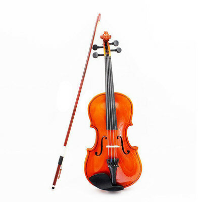 1/8 Size Acoustic Violin with Fine Case Bow Rosin for Age 3-6 M8V8 CX