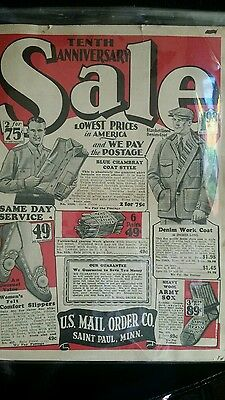 US Mail Order Co. St Paul MINN Tenth Anniversary Sale Catalog no date 20s-30s?