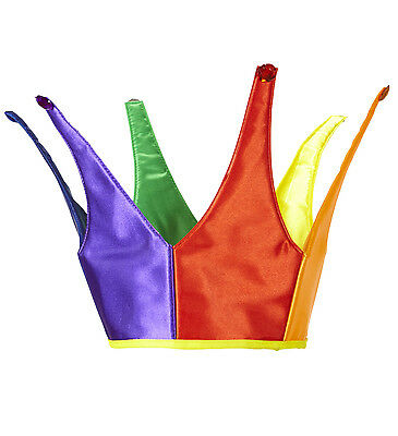Rainbow Crown Hat Gay Pride Multi Coloured Fancy Dress Head Wear