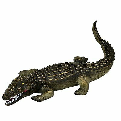 "Large 23"" (46 cm) Crocodile Stuffed Rubber Realistic Details Play Toy Museum"