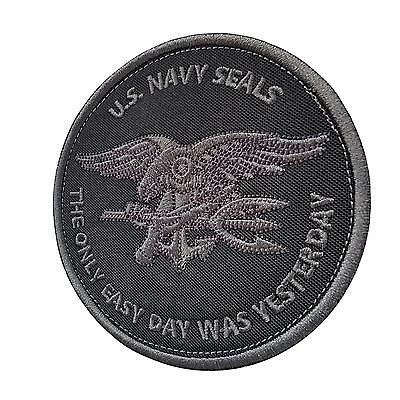 the only easy day was yesterday navy seals subdued parche patch VELCRO® brand