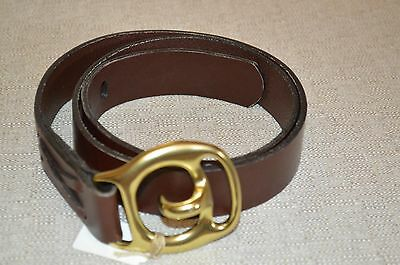 New Austin Jeffers brown leather belt / buckle sz 36  Essex, Conn.