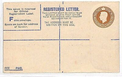 LL275 1936 Registered Letter Postcard Blank {samwells-covers}