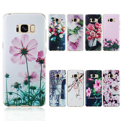 UltraThin Flower Pattern Silicone Soft TPU Case Cover For Samsung Galaxy S7 S8