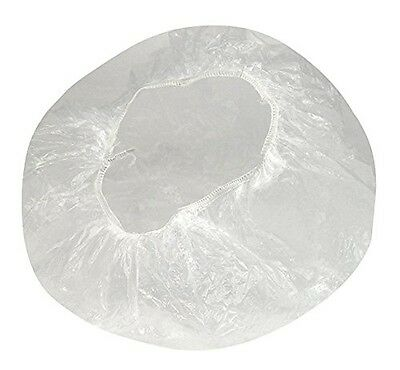 RuiChy Transparent Disposable Polythene Hair Bath Shower Caps