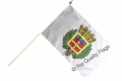 "France Le Mans HAND WAVING FLAG 30x45cm – 18""x12"" Stick included"