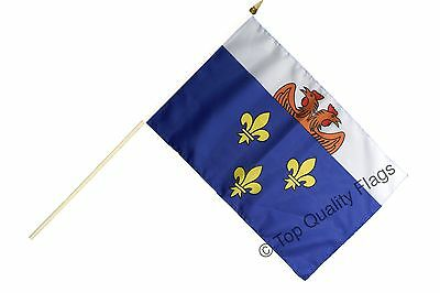 "France Versailles HAND WAVING FLAG 30x45cm – 18""x12"" Stick included"