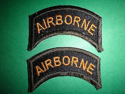 Lot Of 2 US Army AIRBORNE Merrowed Edge Arc Patches