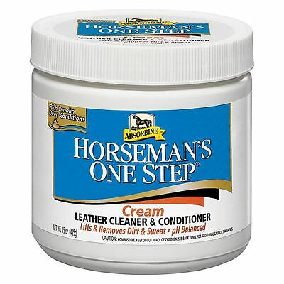 Absorbine Horseman�s One Step Equestrian Tack Clean Conditioning Leather Cream