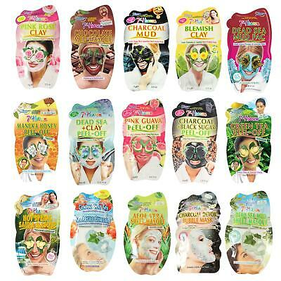 7th Heaven Face Mask Black Charcoal Sheet Mud Peel Off Exfoliating Oily Dry Skin