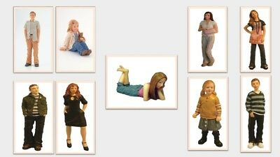 1:12 scale dolls house miniature resin modern people 6 to choose from.