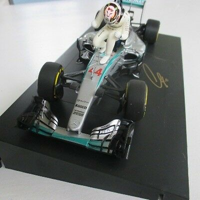 LEWIS HAMILTON 1/18th SIGNED 2017. CERTIFIED