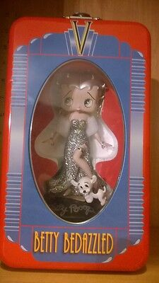 Betty Boop Bedazzled Sterling Silver Bobble Head Doll Limited Edition in Tin