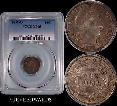 1899-O Barber Dime ** PCGS XF45 ** < Better Date >