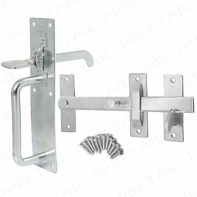 GALVANISED ZINC SUFFOLK GATE THUMB LATCH Cottage/Outdoor Door Handle Lock/Catch