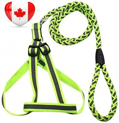 Reflective Stitched Easy Tension Adjustable 2 In 1 Dog Leash and...