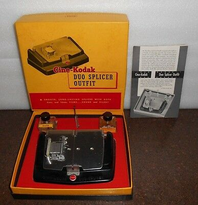 Vintage CINE-KODAK DUO SPLICER OUTFIT 8mm/16mm Film- Good condition- in box