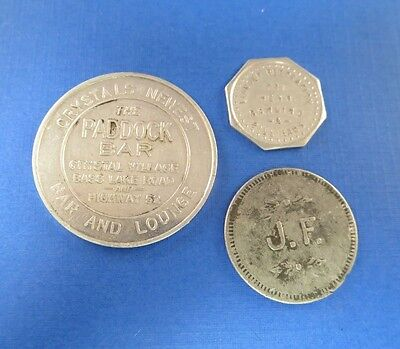Good For Token Lot Of 3 Vintage Tokens