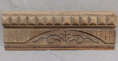 Antique East Lake Door Window Header Pediment Walnut Vintage 437-17R