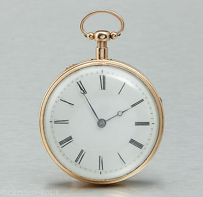 Heavy 18k gold 1810 Pocket watch ¼ repeater and Music box God save the Queen