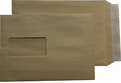 500 st Envelopes Din A5 C5 Brown with Window Self-Adhesive Envelopes Hk