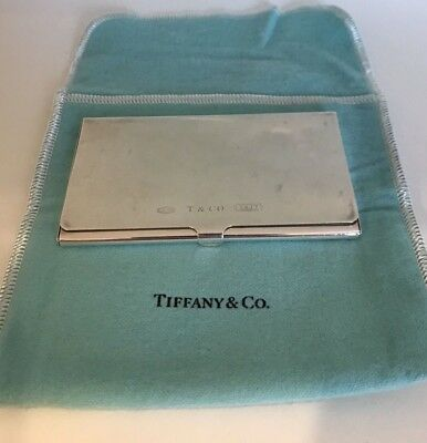 Tiffany and Co. Sterling Silver 1837 Collection Business Card Case with Pouch